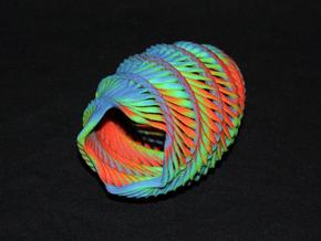 Mathematical Mollusca - Medium Rainbow Conch in Full Color Sandstone