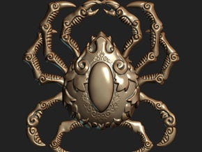 Krablor the Crab (Pendant) in Polished Bronzed Silver Steel