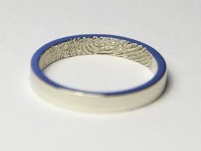 Fingerprint Ring - Hers in 14k White Gold