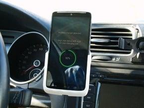 Motorola Droid Turbo - Qi Wireless Car Charge Dock in White Processed Versatile Plastic
