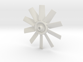 Fan 4.5 for electric motor model in White Natural Versatile Plastic