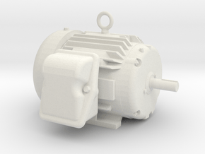 Electric Motor - Hollow in White Natural Versatile Plastic