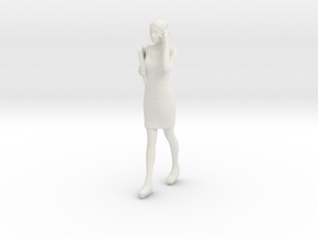 Half Scale Woman Walking in White Natural Versatile Plastic