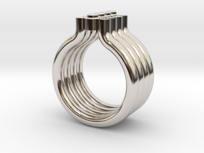 DOT SIZE 7 in Rhodium Plated Brass
