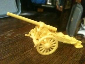 1/100, 1877 de Bange 155mm cannon (low detail) in Yellow Processed Versatile Plastic