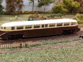 GWR Railcar #1 - Z - 1:220 in Smooth Fine Detail Plastic