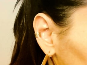 Ear Cuff - rods in Natural Brass