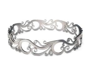 Silver Filigree Bracelet - Medium in Fine Detail Polished Silver