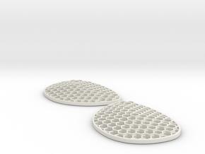 Hexalens A - Both Lenses in White Natural Versatile Plastic