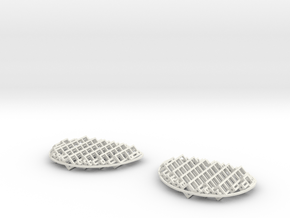 Polylens Cubes - Both Lenses in White Natural Versatile Plastic