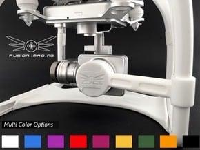 DJI Phantom 2 Vision + Gimbal Lock / Lens Cap (V2) in White Processed Versatile Plastic