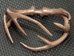 Antler Bracelet - 80mm in Polished Bronzed Silver Steel