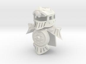 Minifig Locomotive Armor Set in White Natural Versatile Plastic