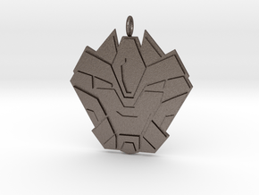 Hammer Time Badge  in Polished Bronzed Silver Steel