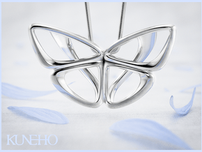 Moduza Butterfly Pendant in Fine Detail Polished Silver