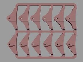 GER Loco Brake Blocks in Smooth Fine Detail Plastic