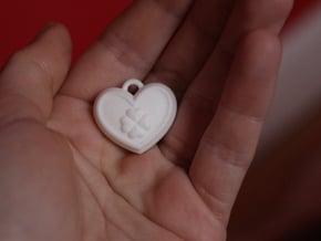 Rolo Lamperouge Locket Code Geass Heart Charm Nunn in White Processed Versatile Plastic