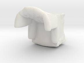 1:43 Tufted Armchair in White Natural Versatile Plastic