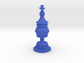 King Chess Piece in Blue Processed Versatile Plastic