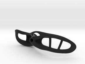 "Aero Right 4"" palm width in Black Natural Versatile Plastic"