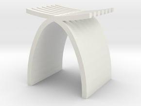 1:24 Capelli Stool in White Natural Versatile Plastic