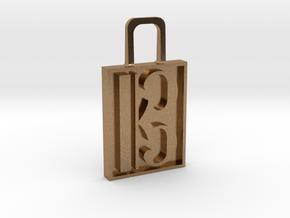 Alto Clef Zipper Pull Version 2 in Natural Brass