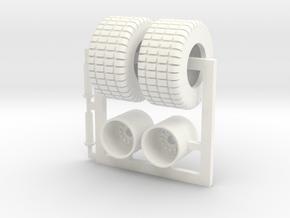 1/64 750-50-30.5 Turf Tire in White Processed Versatile Plastic