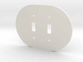 plodes® 2 Gang Toggle Switch Wall Plate in White Natural Versatile Plastic