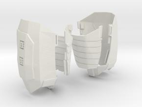 1:6 THIGH ARMOR in White Natural Versatile Plastic