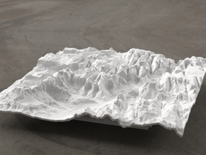 6'' Zion National Park Terrain Model, Utah, USA in White Natural Versatile Plastic