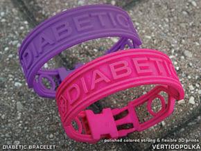 Diabetic Bracelet in Pink Processed Versatile Plastic