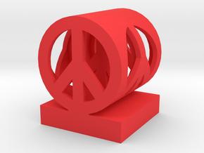 Peace in peace medium in Red Processed Versatile Plastic