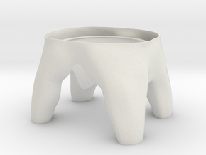 Tooth R3 Bottom in White Natural Versatile Plastic