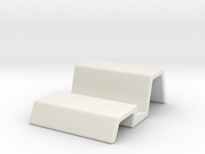 Simple Universal Mobile Dock in White Natural Versatile Plastic