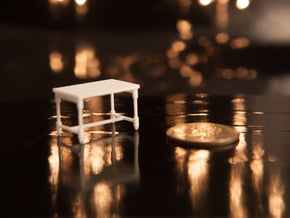 1:48 Table in White Natural Versatile Plastic
