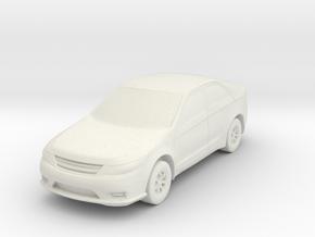 Car At N Scale in White Natural Versatile Plastic