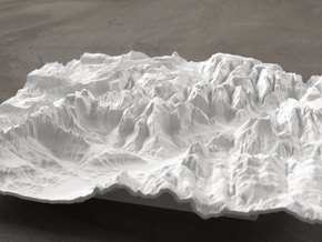 8'' Zion National Park Terrain Model, Utah, USA in White Natural Versatile Plastic