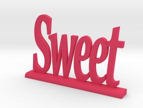 "Letters 'Sweet' 7.5cm / 3.00"" in Pink Processed Versatile Plastic"