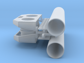 PEIR HO Scale Concrete Double Culvert in Smooth Fine Detail Plastic