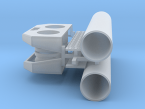 PEIR N Scale Concrete Double Culvert Assy in Smooth Fine Detail Plastic