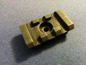Rotatable Picatinny Rail Adapter in Black Natural Versatile Plastic