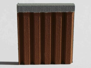 N Scale Sheet Piling (customizable) in White Processed Versatile Plastic