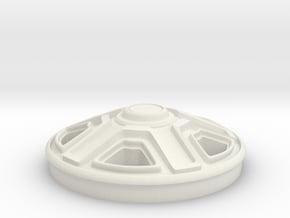Rim-Single(1:24 Scale) in White Natural Versatile Plastic