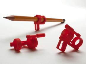 "The ""Nuke-m"" Pencil Bazooka in Red Processed Versatile Plastic"