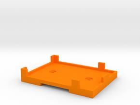 Rx Mount (for Futaba 6014) in Orange Processed Versatile Plastic