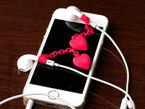 Earpod Earrings   Hearts ♡  in Red Processed Versatile Plastic
