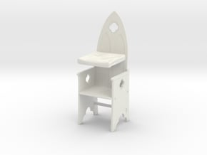 Gothic Chair 1:24 in White Natural Versatile Plastic