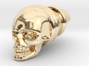Silver Whistle of the Dead in 14K Yellow Gold