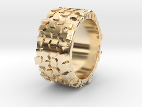 Superswamper Male in 14k Gold Plated Brass: 9.5 / 60.25