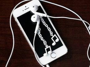 Earpod Earrings   Musical Notes in White Processed Versatile Plastic